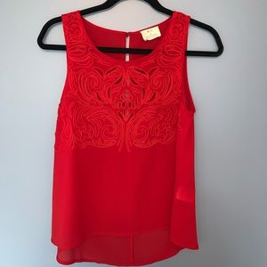 Red Detailed Tank Top